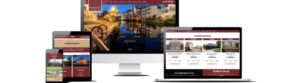 Header image for the Pymm & Co Estate Agents in Norwich blog post header for the launch of the NEW website